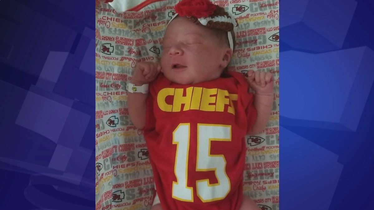 Patsy Barnhart was born Sept. 17, 2019. Her parents say the deciding factor for her name was her arrival on Chiefs' quarterback Patrick Mahomes' birthday. (Photo submitted)