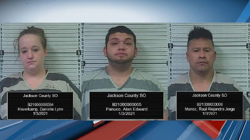 Three arrest after traffic stop
