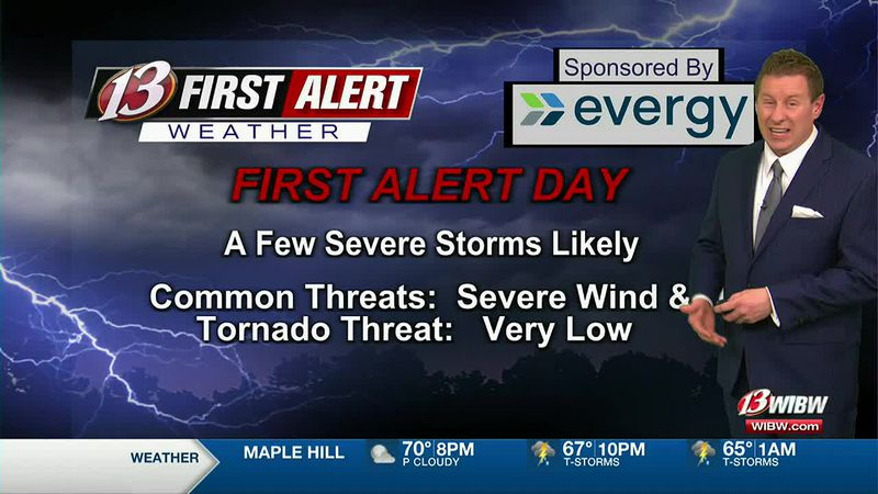 Severe Storms likely this evening and tonight