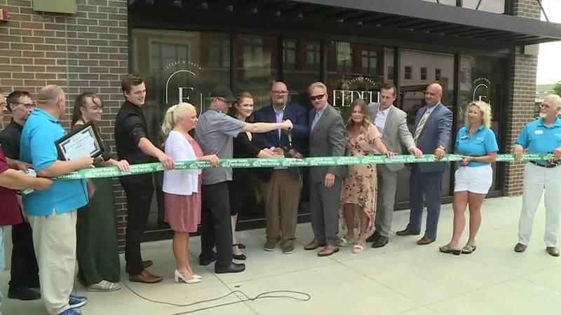Fedeli's Italian Restaurant inside Cyrus Hotel hosted a ribbon cutting Thursday, Aug. 19. 2021.