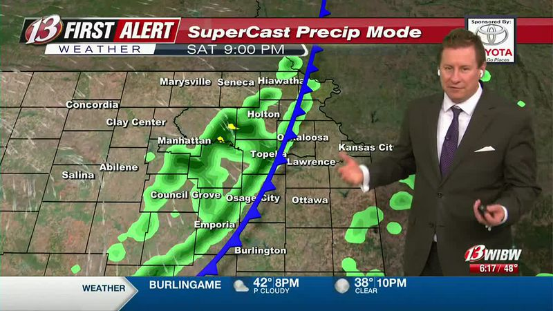 60s tomorrow with a rain chance after 8PM