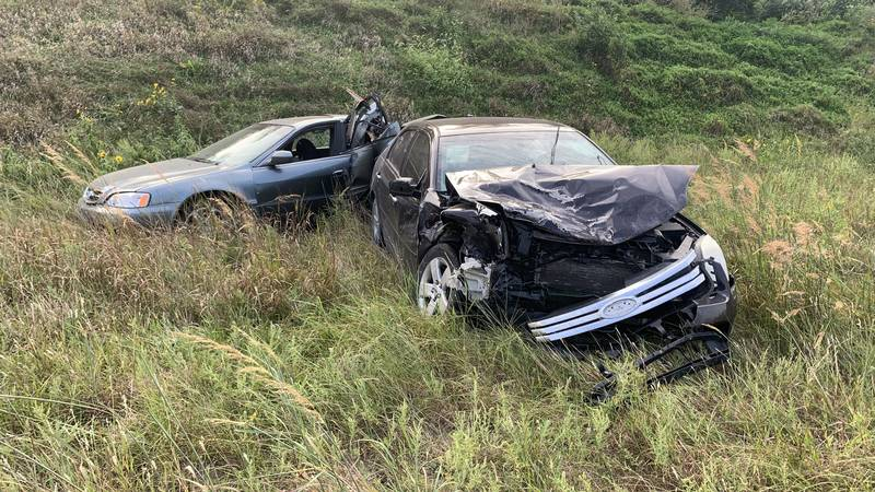 A two-vehicle crash slowed traffic early Monday on northbound US-75 highway just south of S.W....