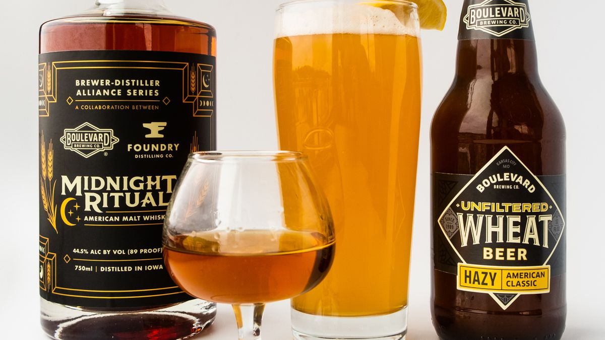 Boulevard Brewing Company is partnering with Foundry Distillery to make its Unfiltered Wheat...