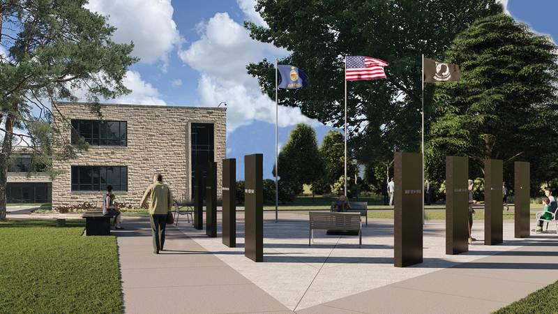 Washburn University announces new veterans memorial and fundraising challenge.