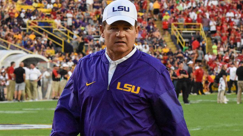 Former LSU head coach Les Miles
