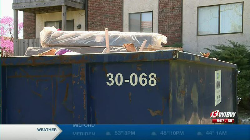 Apartment Fire Resident Finds property in dumpster