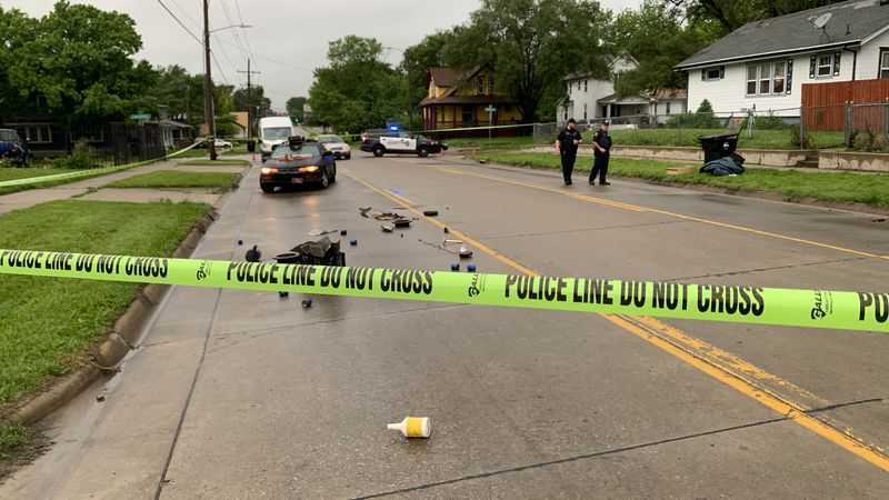 Topeka police were investigating the city's sixth homicide of the year after a man was shot and...