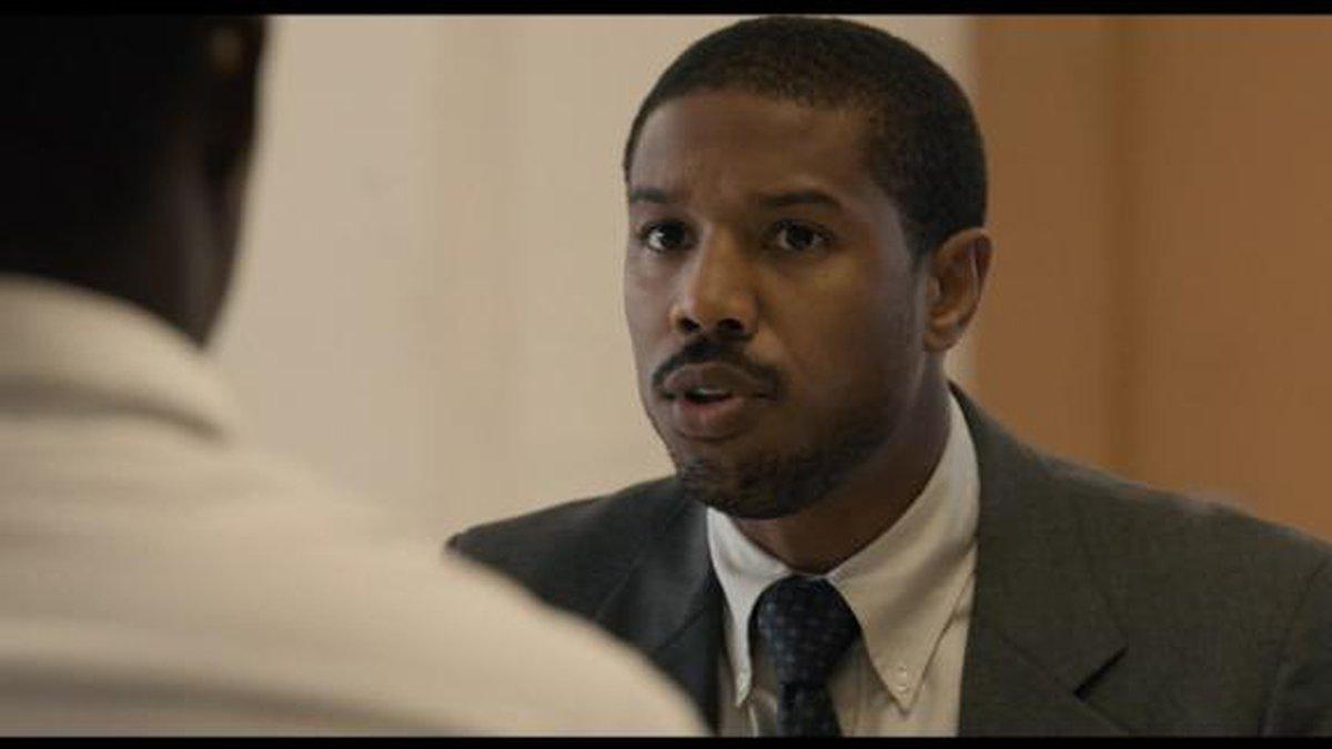 Michael B. Jordan in Just Mercy;   Source: Warner Bros. Pictures via CNN