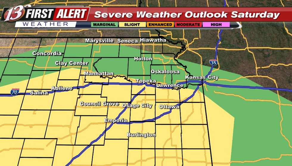 Any storms after 4pm: Main threat hail/wind however a tornado can't be ruled out.