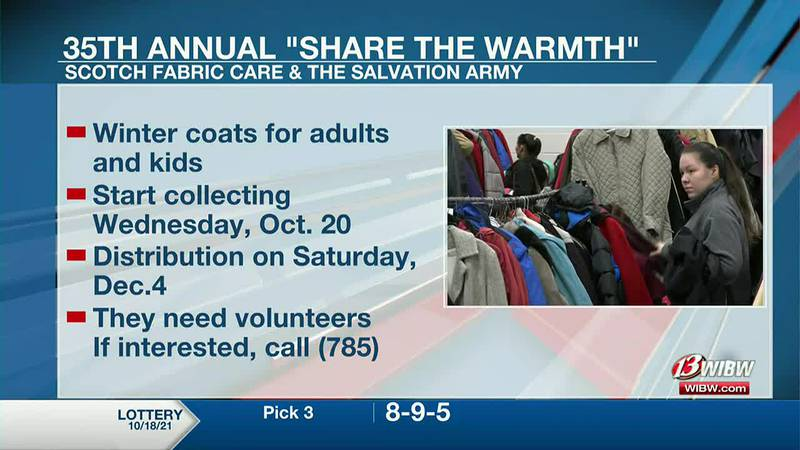 Scotch Fabric Care in Topeka will start collecting winter coats for the 35th annual Coat...