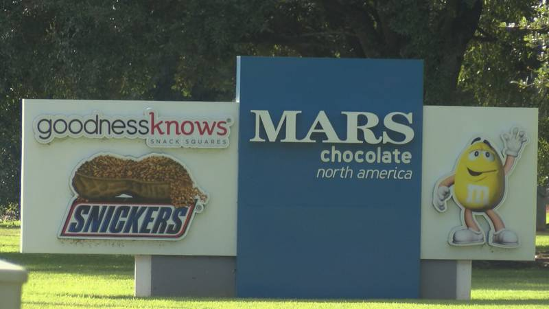 Mars Chocolate will get $200,000 after it investing $14 million to build a new product line at...
