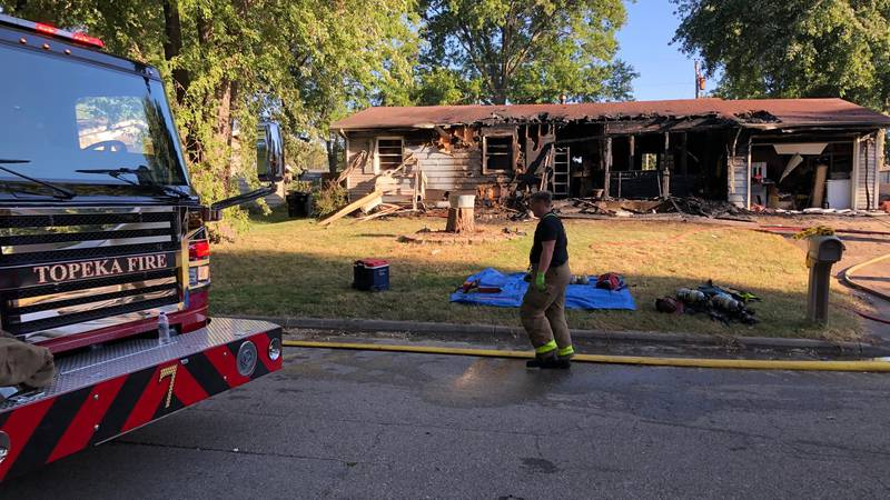 One man was found dead at the scene of a house fire on NE Spruce Lane, Sunday, Sept. 26, 2021.