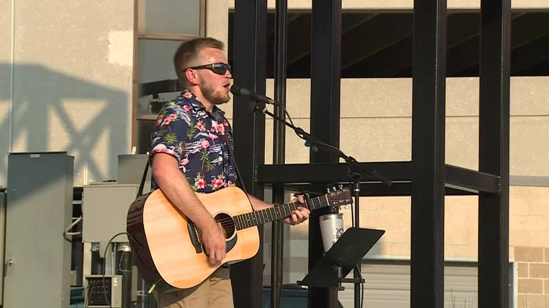 Bryton Stoll is the headliner at the Eats & Beats event at Evergy Plaza.