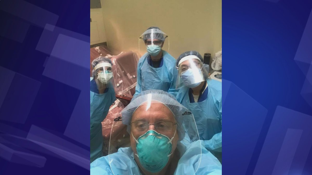 Dr. Steve Short, a pulmonologist from Manhattan, Kan., shared a snapshot of his team caring for...