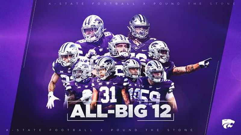 Ten K-State football players earn postseason honors from Big 12 coaches