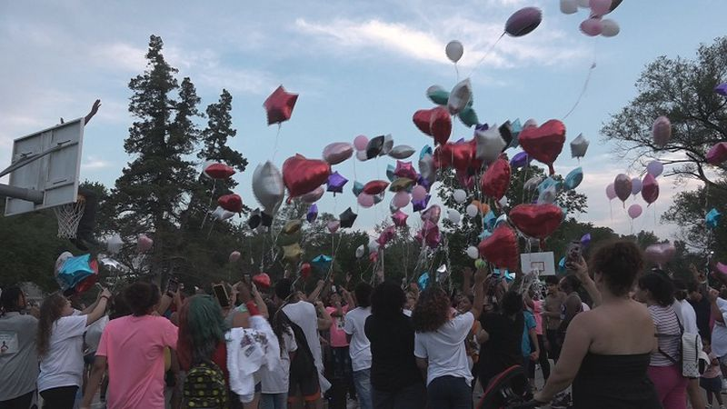 DaMya Hudnall balloon release