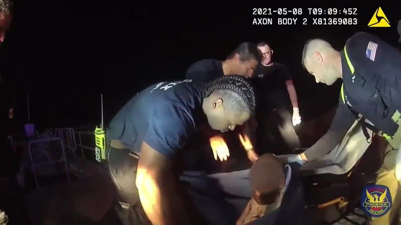 The man was checked out and treated by paramedics. The officers who rescued him are hoping to...