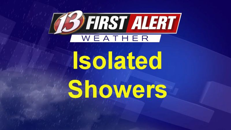 First Alert Isolated Showers