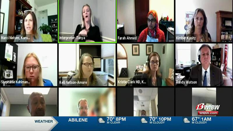 Kansas Safer Classrooms Workgroup met virtually Wednesday to discuss the latest COVID...