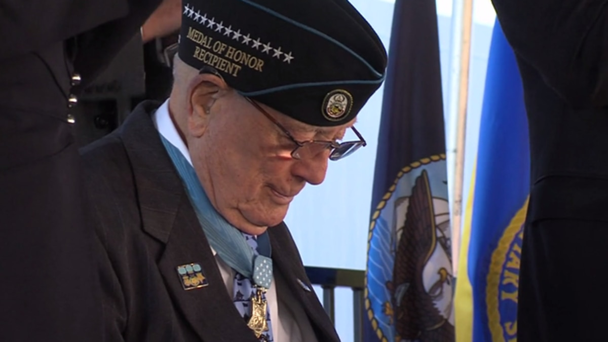 "FILE: World War II veteran Hershel Woodrow ""Woody"" Williams, who received the Medal of Honor..."