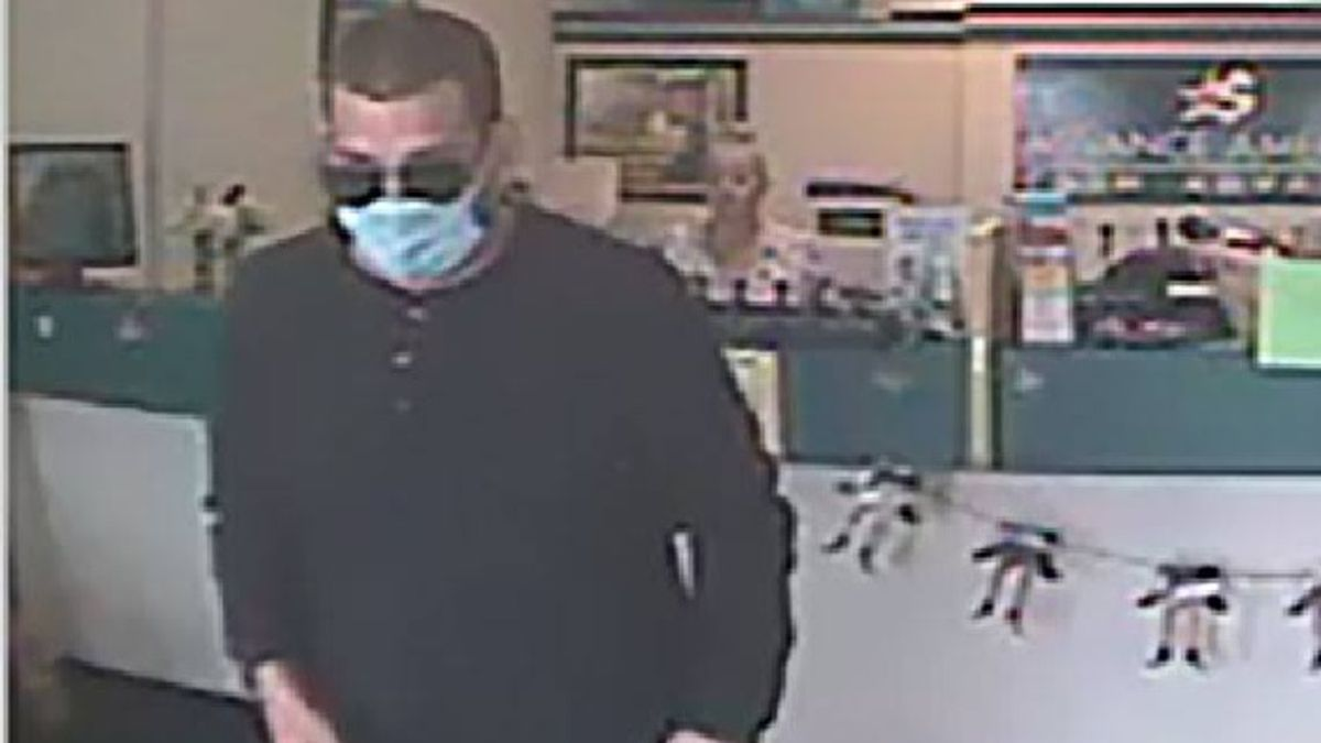 This surveillance image shows a man Lawrence Police want to talk to about an armed robbery at...