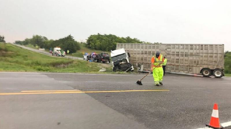 A semi collided with a car at Hwy. 77 and Green Randolph Rd., killing the car's driver, July...