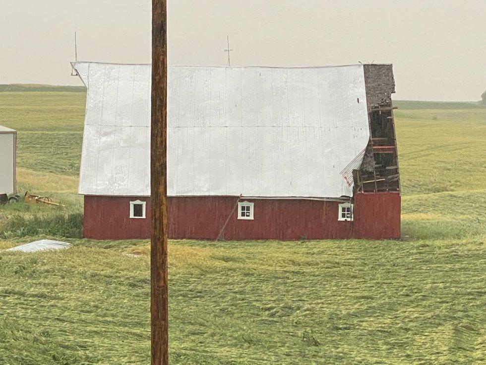 Storm Damage Near Sabetha