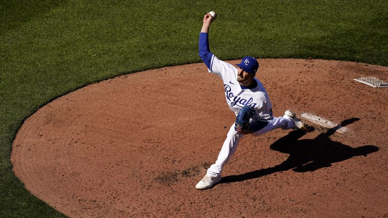 Kansas City Royals relief pitcher Kyle Zimmer throws during the second inning of a baseball...