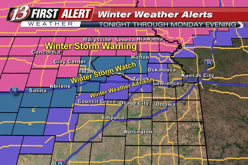 Check your WIBW Weather app for specific details on your county's alert