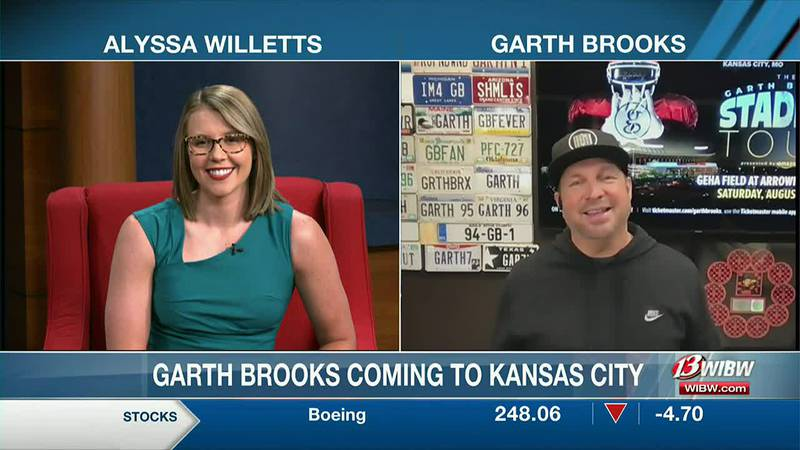 Garth Brooks joins 13 NEWS This Morning to talk about upcoming concert at Arrowhead