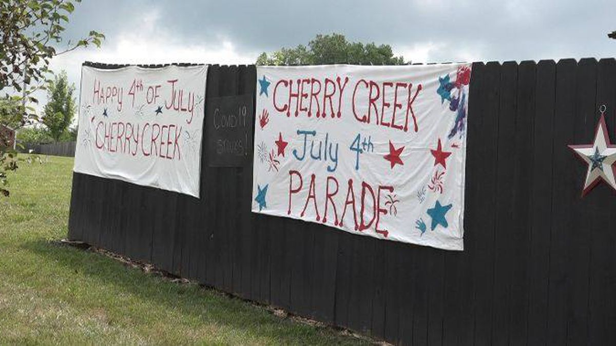 Cherry Creek neighborhood hosted a parade on July 4. People social distanced and walked or biked around the neighborhood.