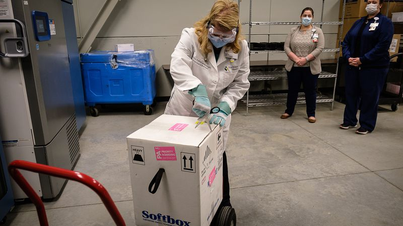 Stormont Vail in Topeka received its first shipment of COVID-19 vaccine Tuesday, Dec. 15, 2020.