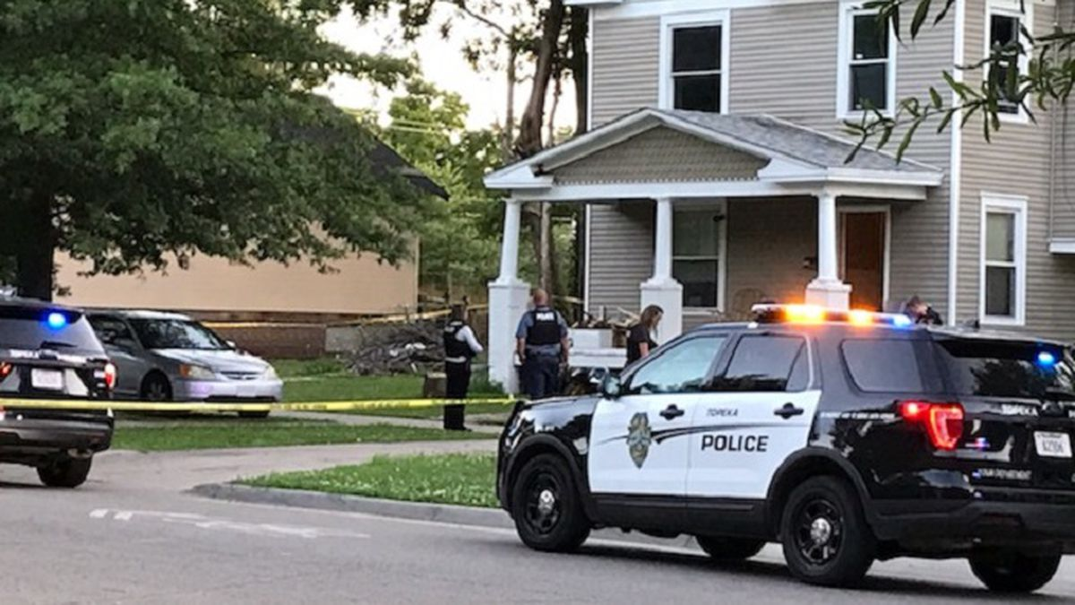 Topeka Police investigate a shooting in the 1100 block of SW Clay St., July 13, 2020.
