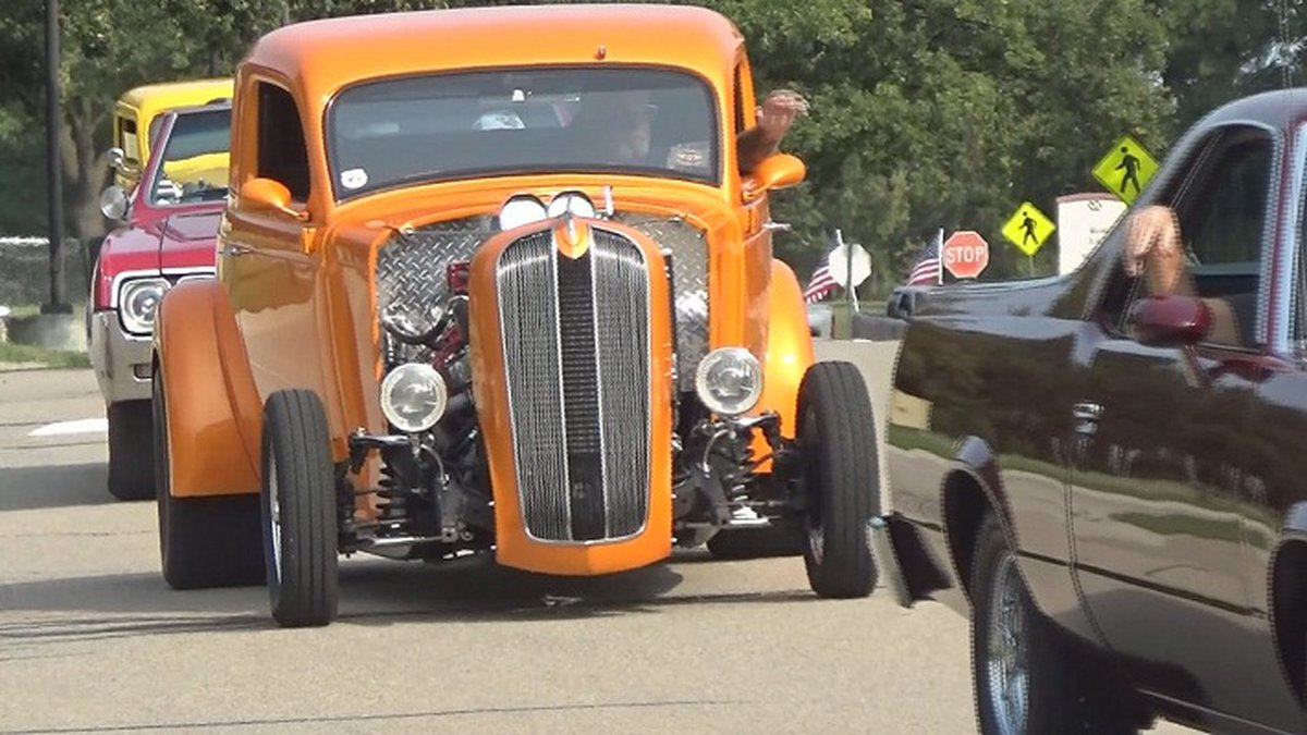 Topeka veterans drove their cars past the VA on POW/MIA Recognition Day