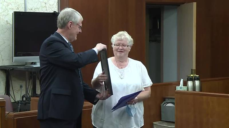 Angela Callahan retired after 40 years of service.
