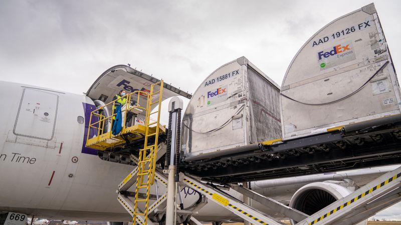 FedEx vaccine shipment lands in Memphis