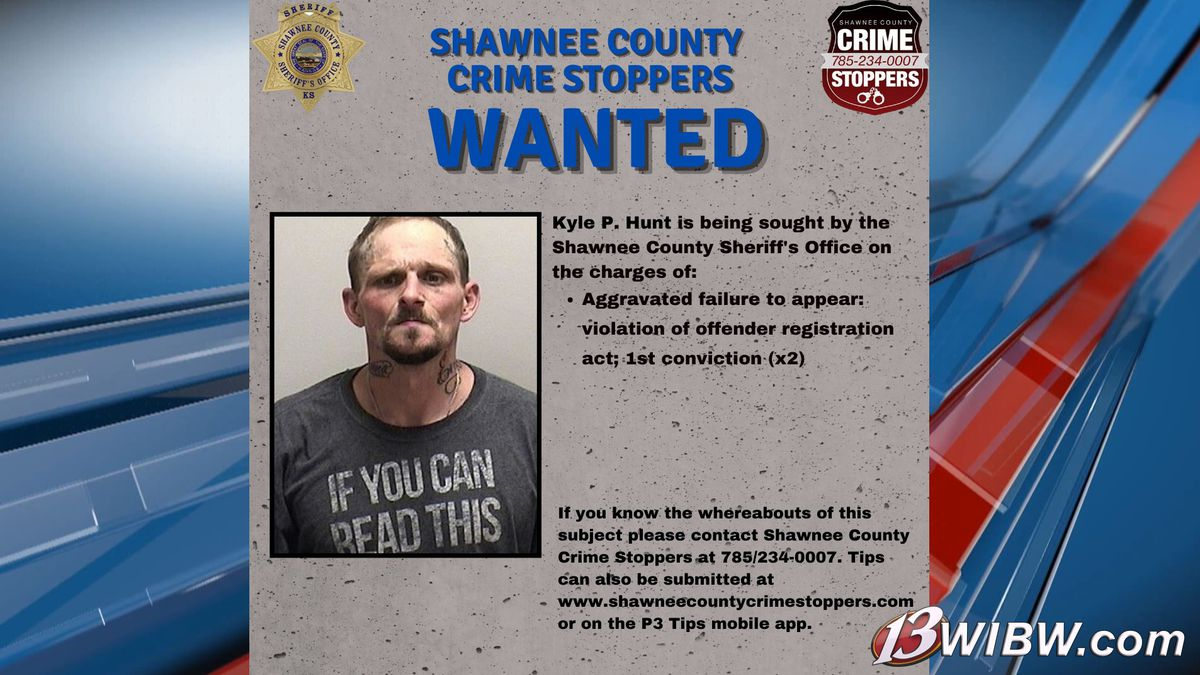 Kyle Hunt is added to the Shawnee Co. Crime Stoppers Most Wanted list on June 9, 2021.