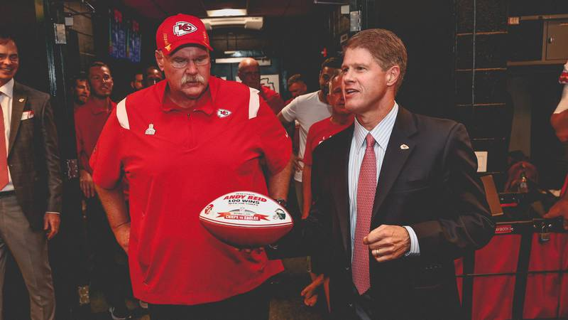 Andy Reid won his 100th career regular season win as a head coach of the Kansas City Chiefs on...