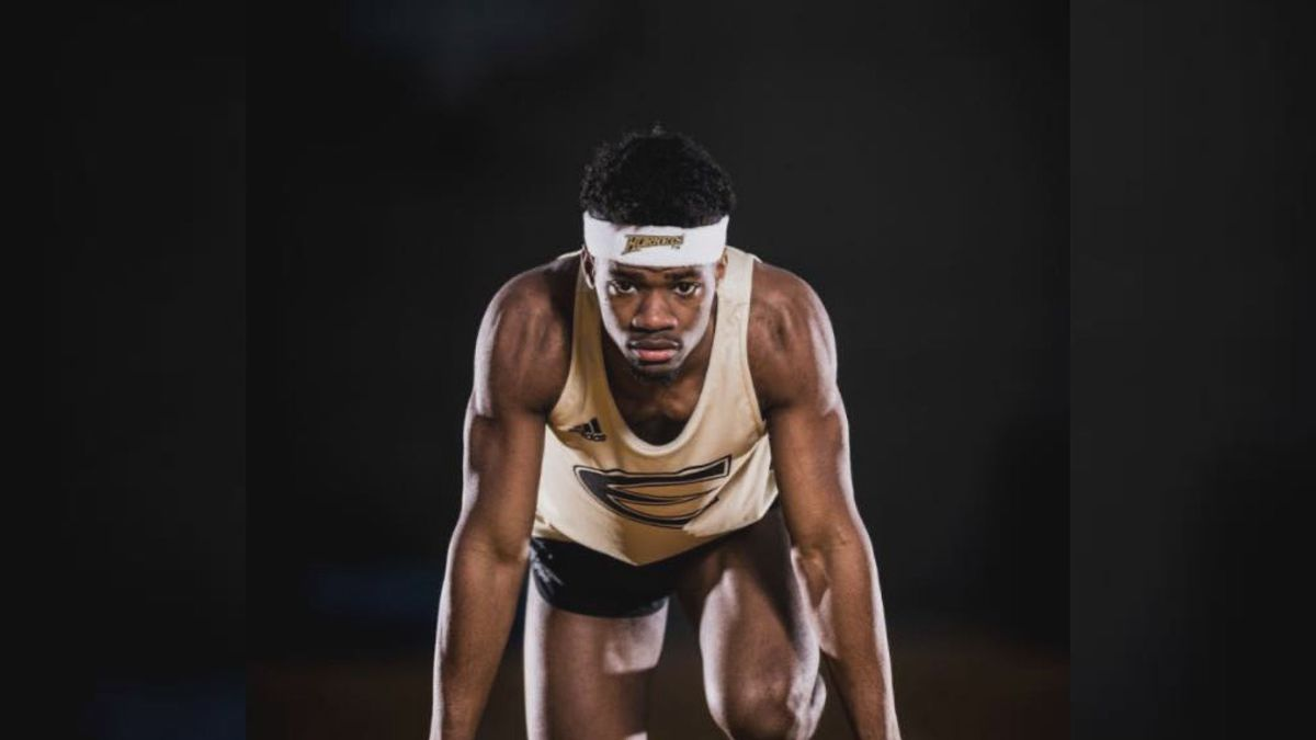 All-American track star Taysean Goodwin's final race was cut short by the coronavirus concerns canceling the D-II Outdoor Track and Field Championship.