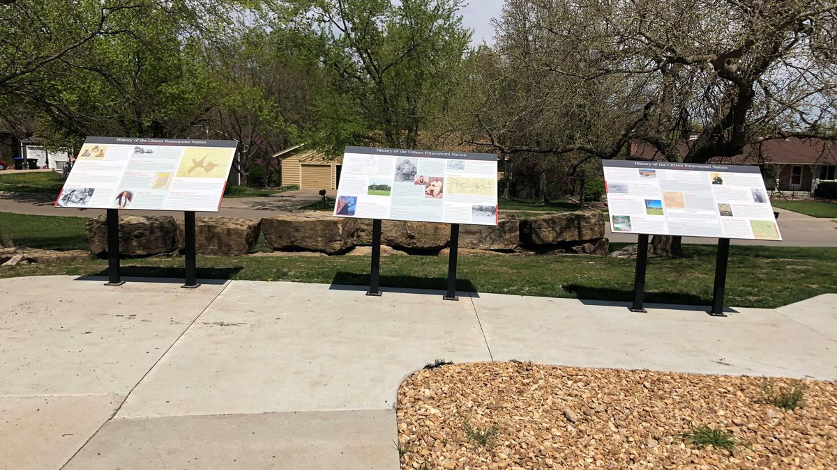 Interpretive signs at Skyline Park will be dedicated by Citizen Band Potawatomi Nation...