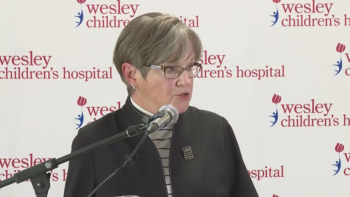 FILE - Governor Laura Kelly announces the creation of the Safer Classrooms Workgroup at Wesley...