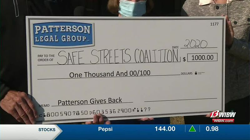 Patterson Gives Back, to Safe Streets of Topeka