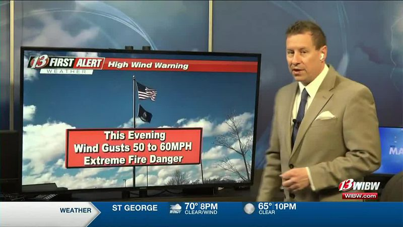 Windy tonight and Tuesday