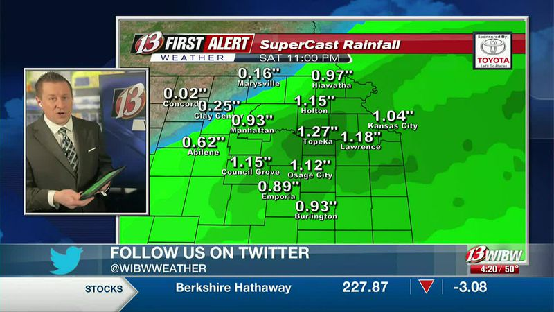 Some spots will see more than 1 inch of rain tomorrow