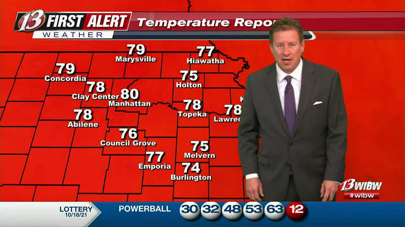 Cooler temperatures tomorrow