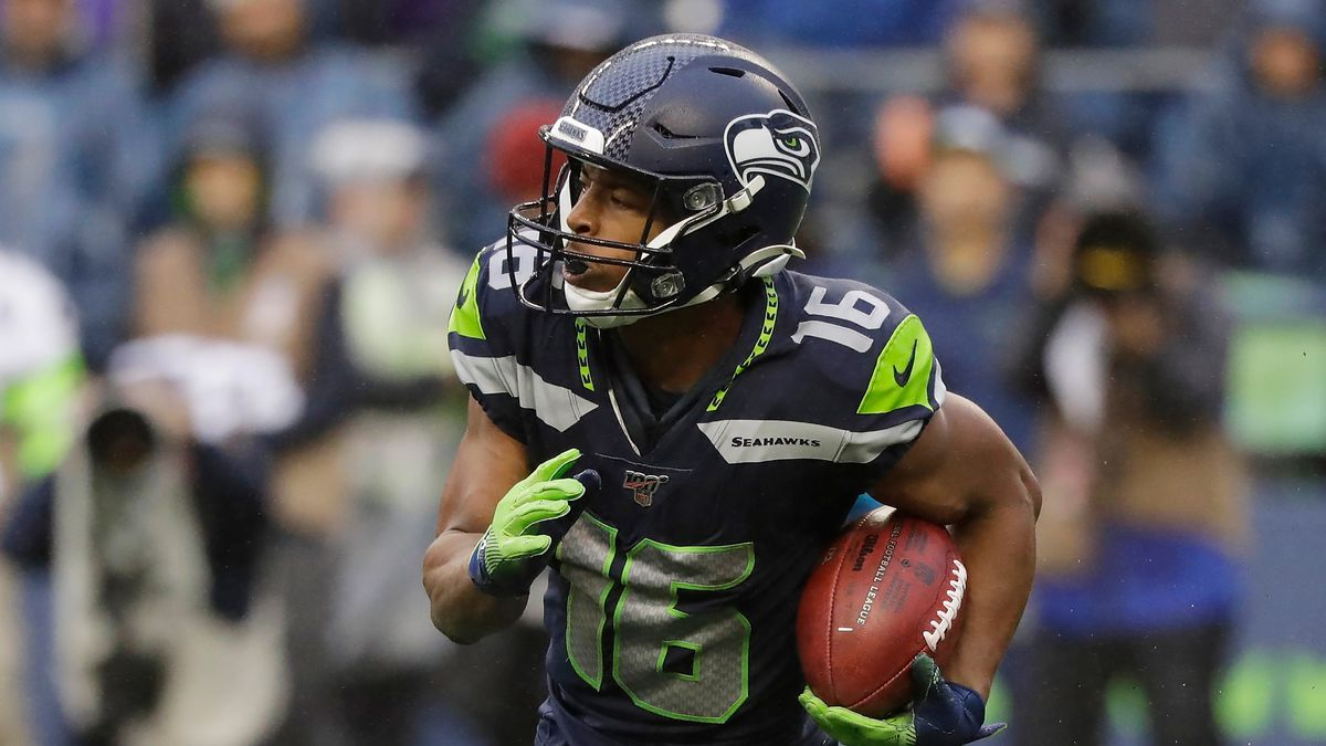Seattle Seahawks wide receiver Tyler Lockett in action against the Baltimore Ravens during an NFL football game, Sunday, Oct. 20, 2019, in Seattle. (AP Photo/Elaine Thompson)