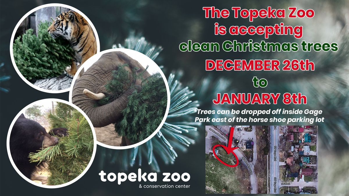 The Topeka Zoo wants your Christmas trees -- after Christmas, of course.