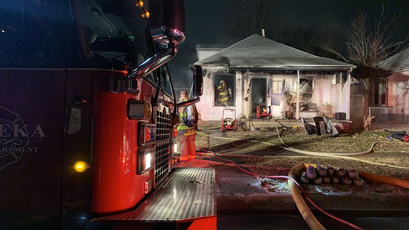 A space heater was blamed for an early-morning fire that destroyed a home and killed two pets...
