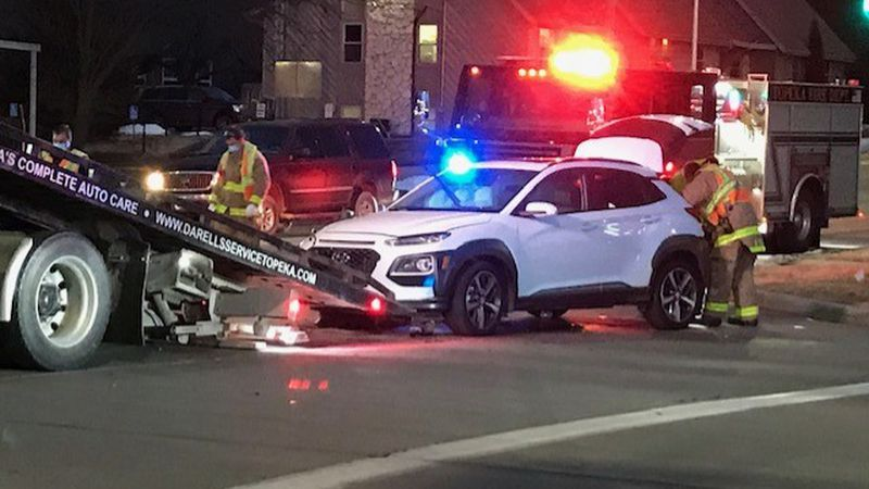 Two-car collision at 10th and Fairlawn