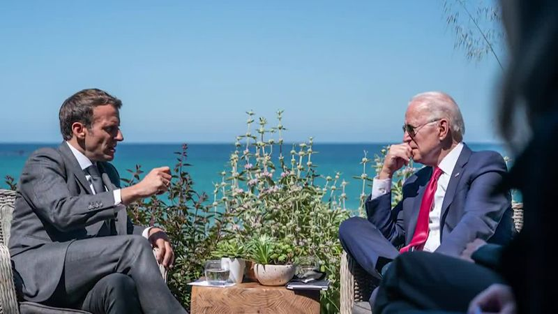 Biden hopes to repair relationships tainted by Trump and build allied support to counter China...